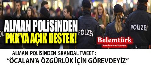 Alman Polisinden Skandal Tweet: Öcalan'a Özgürlük İçin Görevdeyiz