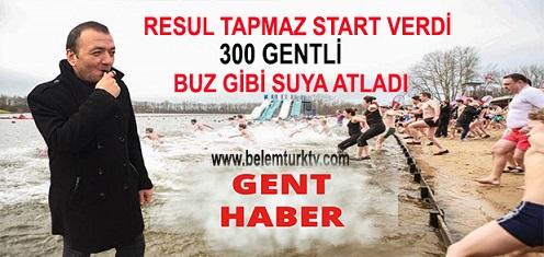 Tapmaz Start Verdi, 300'ü Aşkın Gentli Buz Gibi Suya Atladı!