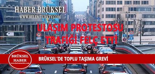 Brüksel'de Toplu Taşıma Grevi Şehir Trafiğini Durma Noktasına Getirdi.