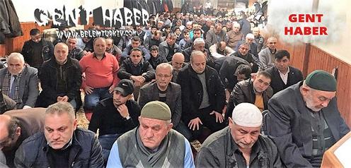 Gent şehrinde Afrin'de şehit olan Türk askerleri için okunan hatimlerin duası yapıldı