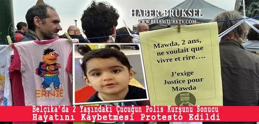 Belçika'da 2 Yaşındaki Çocuğun Polis Kurşunu İle Hayatını Kaybetmesi Protesto Edildi