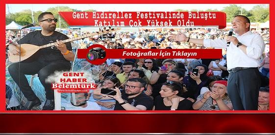 """GENT HIDIRELLEZ FESTİVALİNDE BULUŞTU """" KATILIM ÇOK YÜKSEK OLDU"""""""