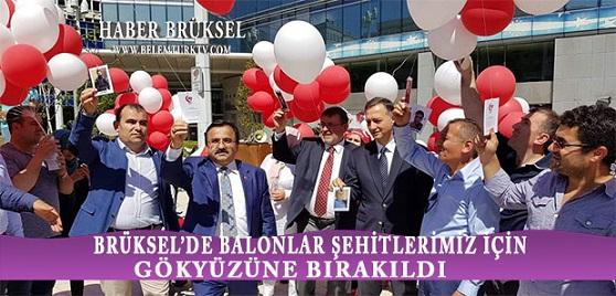 Brüksel'de Balonlar 15 Temmuz Şehitleri İçin Gökyüzüne Bırakıldı