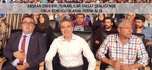 Başkan Emir Kır, Yunaklılar Hasat Şenliği'nde  Onur Konuğu Olarak Yerini Aldı