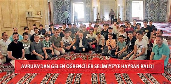 Avrupa'dan Gelen Öğrenciler Selimiye'ye Hayran Kaldı