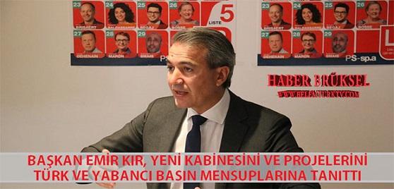 Başkan Emir Kır, Yeni Kabinesini ve  Projelerini Türk ve Yabancı Basın Mensuplarına Tanıttı.
