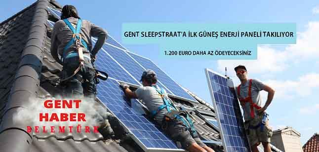 Enerji Şehri Projesi Kapsamında İlk Güneş Enerji Paneli Sleepstraat'a Takılıyor