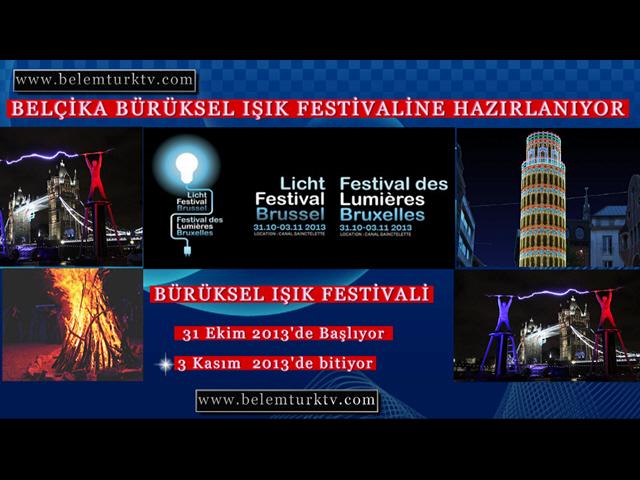 Belçika Bürüksel Işık Festivaline Hazırlanıyor