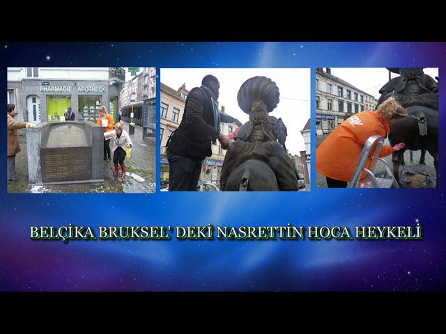 Belçika Brussel'deki Nasrettin Hoca Heykeline Bayram Öncesi Temizlik