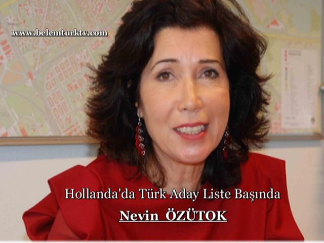 Hollanda'da Türk Aday Nevin ÖZÜTOK Liste Başında