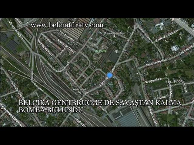 Belçika Gentbrugge'de Savaştan Kalma Bomba Bulundu