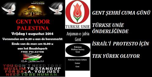 Gent Cuma Günü Filistin İçin Tek Yürek Oluyor