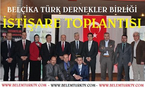 BELÇİKA TÜRK DERNEKLER BİRLİĞİ (Turkse Unie ) İŞTİŞARE TOPLANTISI DÜZENLEDİ