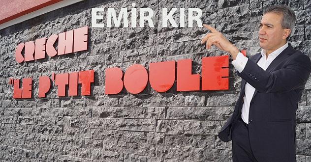 Emir KIR, Yakında İnşaatı Bitecek « le P'tit Boule Kreşi  ve Lojmanları» Çalışmalarını Yerinde İnceledi.