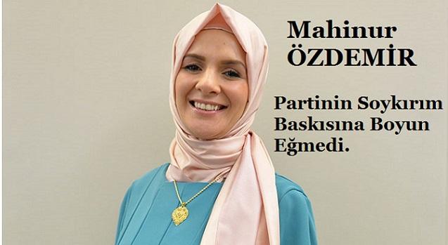 """Türk Vekil Mahinur Özdemir """"Soykırım"""" Baskısıyla Partisinden İhraç Edildi"""