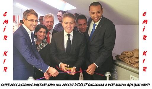 Saint-Josse Belediye Başkanı Emir KIR  «  Joseph Delclef » Okulunda 4 Yeni Sınıfın Açılışını Yaptı