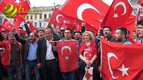 TERÖR  ÖRGÜTÜ PKK BRÜKSEL'DE PROTESTO EDİLDİ. YAPTIK AMA BECEREMEDİK. (GÖRÜNTÜLÜ)