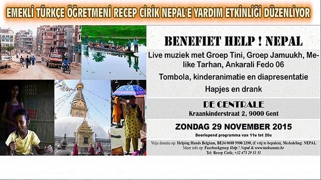 EMEKLİ TÜRKÇE ÖĞRETMENİ RECEP CİRİK, NEPAL'E YARDIM ETKİNLİĞİ DÜZENLİYOR
