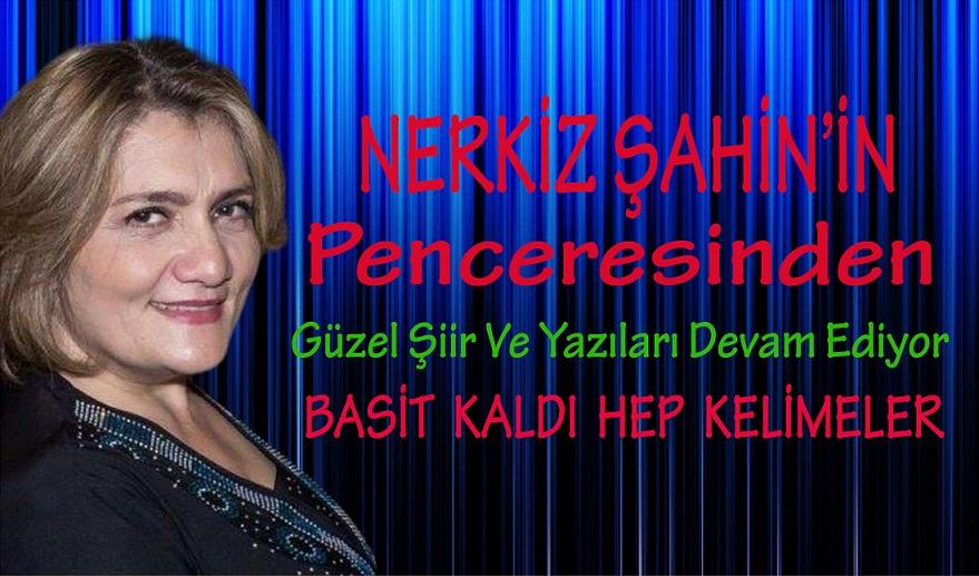 """NERKİZ ŞAHİN'İN PENCERESİNDEN """" BASİT KALDI HEP KELİMELER """""""