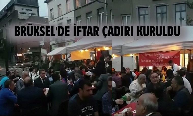 BRÜKSEL'DE VATANDAŞLAR İFTAR ÇADIRINDA BULUŞTU !