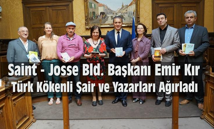 BAŞKAN EMİR KIR, TÜRK KÖKENLİ ŞAİR VE YAZARLARI AĞIRLADI !