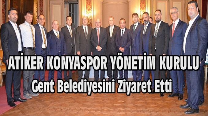 Atiker Konyaspor Yönetim Kurulu Gent Belediyesini Ziyaret Etti (Görüntülü)
