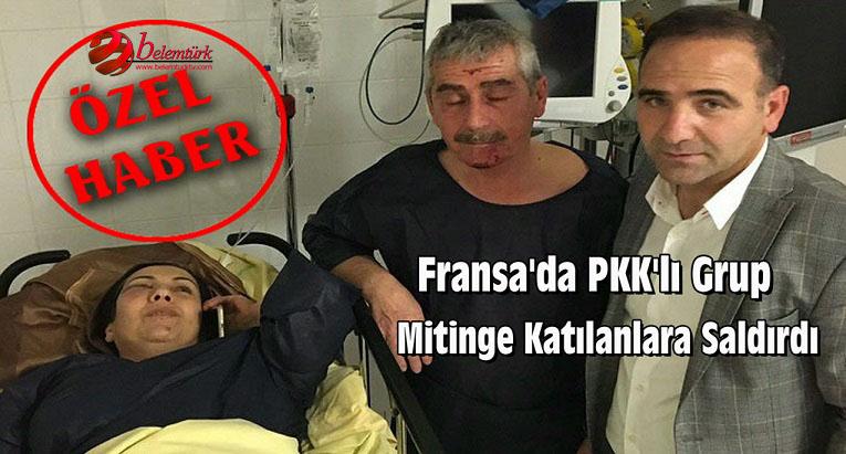 Fransa'da PKK'lı Grup, Mitinge Katılanlara Saldırdı ( Görüntülü )