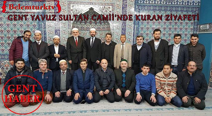 Gent Yavuz Sultan Selim Camii'nde Kuran  Ziyafeti