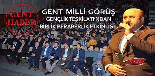 Tevhid Camii Milli Görüş Gent Gençlik Teşkilatı, Türk Kültür ve İslam Birliği Etkinliği Düzenledi