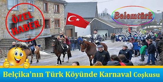 """Belçika'nın """"Türk Köyü""""nde Karnaval Coşkusu"""