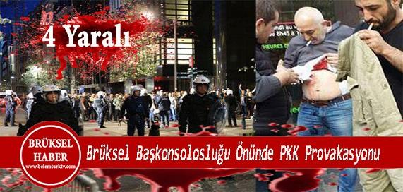 Türkiye'nin Brüksel Başkonsolosluğu önünde Çıkan Kavgada 4 Kişi Yaralandı