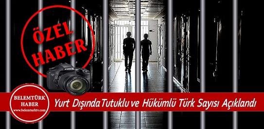 Yurt Dışında Tutuklu ve Hükümlü Türk Sayısı Açıklandı