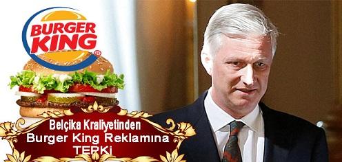 Belçika Kraliyetinden Burger King Reklamına Tepki