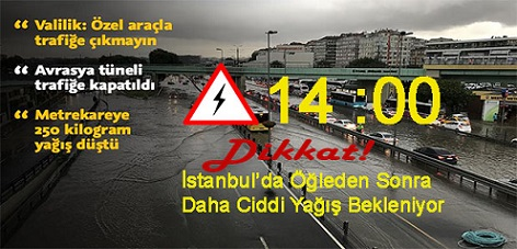 """İstanbul'a Öğleden Sonra Yeni Yağış Uyarısı: """" Saat 14'ten  İtibaren Daha Ciddi Yağış Bekleniyor"""