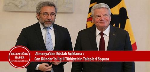 Almanya'dan Küstah Açıklama: Can Dündar'la İlgili Türkiye'nin Talepleri Boşuna!