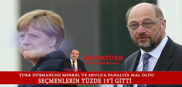 Türk Düşmanlığı Merkel ve Shulz'a Pahalıya Mal Oldu: Seçmenlerinin Yüzde 15'i Gitti