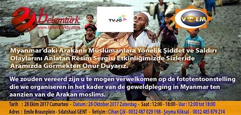 Gent Şehrinde Arakan'da Yaşanan Zulme Dikkat Çekmek Amacıyla Resim Sergisi Açılıyor!