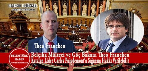 """Belçika Mülteci ve Göç Bakanı Theo Francken : Katalan Lider """" Carles Puigdemont'a Sığınma Hakkı Verilebilir"""""""