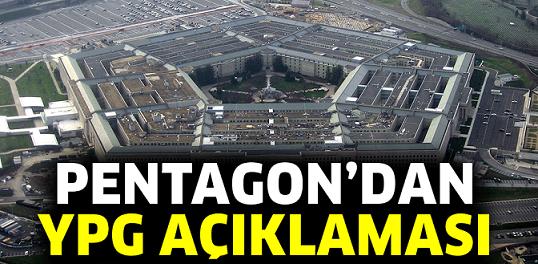 Pentagon'dan YPG açıklaması : Verdiğimiz Desteği Sürdüreceğiz