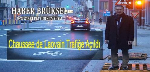Brüksel Chaussee de Louvain yolu trafiğe tekrar açıldı