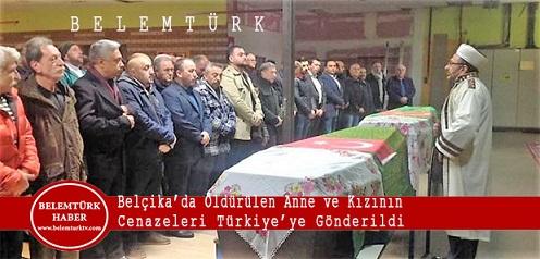Belçika'da Öldürülen Giresunlu Anne Ve Kızının Cenazeleri Türkiye'ye Gönderildi