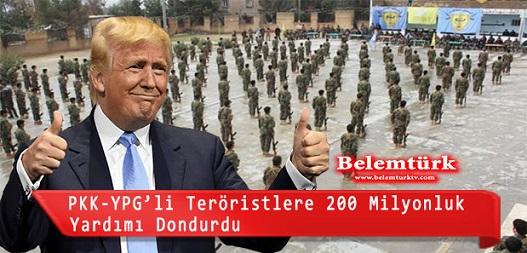 Trump, YPG/PKK kontrolündeki bölgelere ayrılan yardımı dondurdu