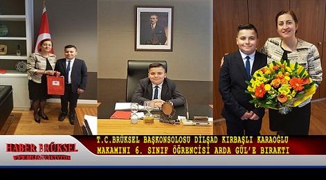 T.C.Brüksel Başkonsolosu Dilşad Kırbaşlı Karaoğlu Makamını Arda Gül'e Bıraktı