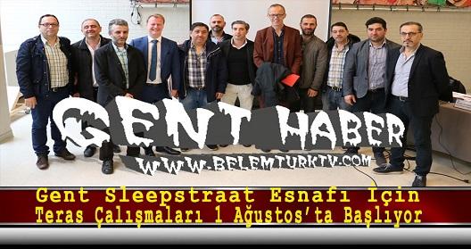 Gent Sleepstraat Esnafı İçin Teras Çalışmaları 1 Ağustos'ta Başlıyor