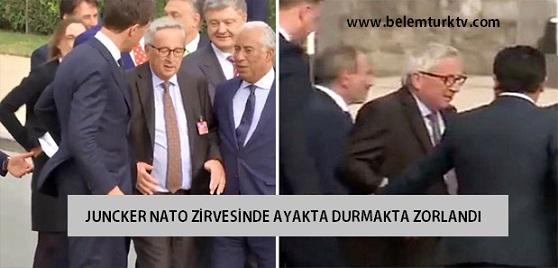 AB Komisyonu Başkanı, NATO zirvesinde ayakta durmakta zorlandı