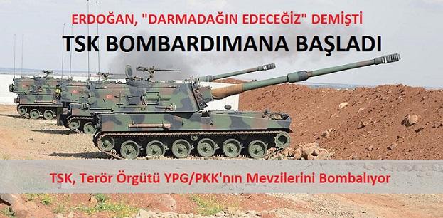 SON DAKİKA… TSK, terör örgütü YPG/PKK'nın mevzilerini bombalıyor