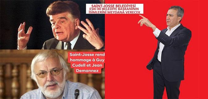 Saint-Josse Belediyesi eski belediye başkanları Guy Cudell ile Jean Demannez'in isimlerini meydana verecek