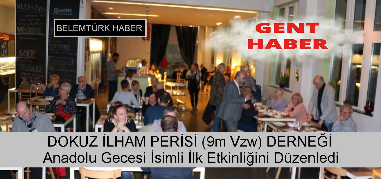 Gent Şehrinde Yeni Kurulan Dokuz İlham Perisi ( 9m vzw ) Derneği İlk Etkinliğini Gerçekleştirdi