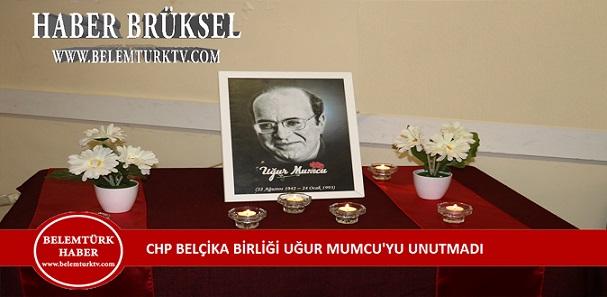 CHP Belçika Birliği, 26 yıl önce bir suikastle katledilen Araştırmacı-Gazeteci, Yazar Uğur Mumcu'yu andı