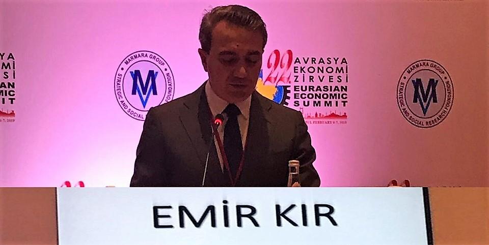 """Başkan Emir Kır, İstanbul'da düzenlenen """"22. Avrasya Ekonomi Zirvesi""""ne Katıldı"""